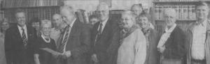 1999 Guernsey Einladung Bailiff nach Biberach zum Schützenfest. Bildmitte: Bailiff Sir de Vic und Eberhard Göhner