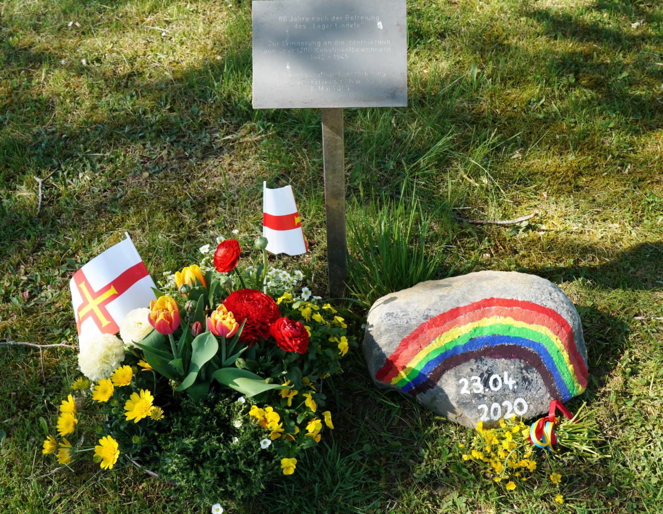 75 Jahre Freiheit und Verantwortung für die Zukunft -Gedenkfeier am 23.04.2020 beim Lager Lindele
